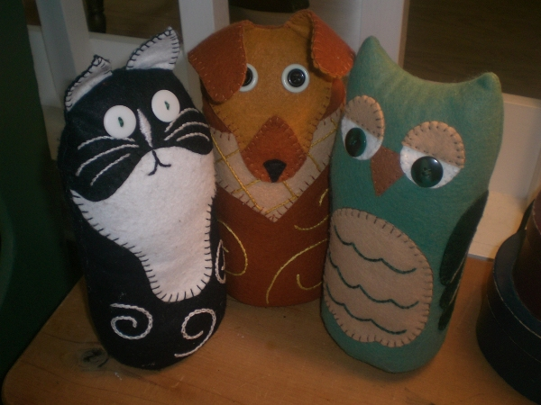 Free Pattern Kitty Dog Or Owl Doorstop Sewing