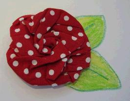 foldandtwistfabricflower