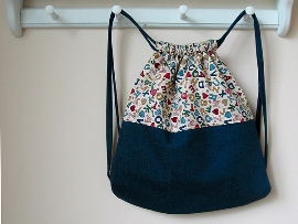 Tutorial Back To School Drawstring Backpack Sewing