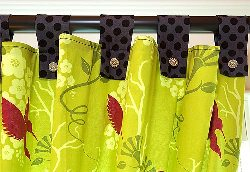 How to Sew Tab Curtains | eHow.com