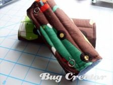 Tutorial Quilted Seatbelt Covers Sewing