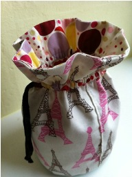 Tutorial rondo drawstring pouch with a circular base sewing for Drawstring jewelry bag pattern