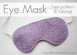 Free Pattern Eye Mask Sewing