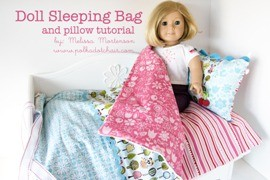 Free Crochet Pattern For American Girl Sleeping Bag : Tutorial: Sleeping bag and pillow for an 18? doll ? Sewing