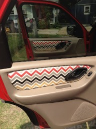 tutorial reupholster the door panels of your car with a cool fabric print sewing. Black Bedroom Furniture Sets. Home Design Ideas