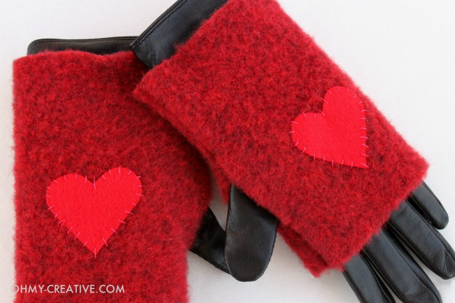 Tutorial: Felted wool fingerless gloves